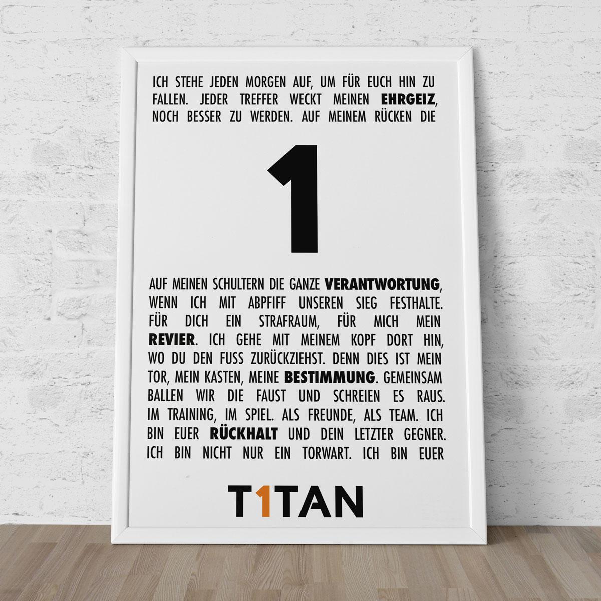 Torwart-Manifest Poster